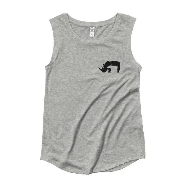 RHINO Ladies' Cap Sleeve T-Shirt- MORE COLORS - Wear for Wild