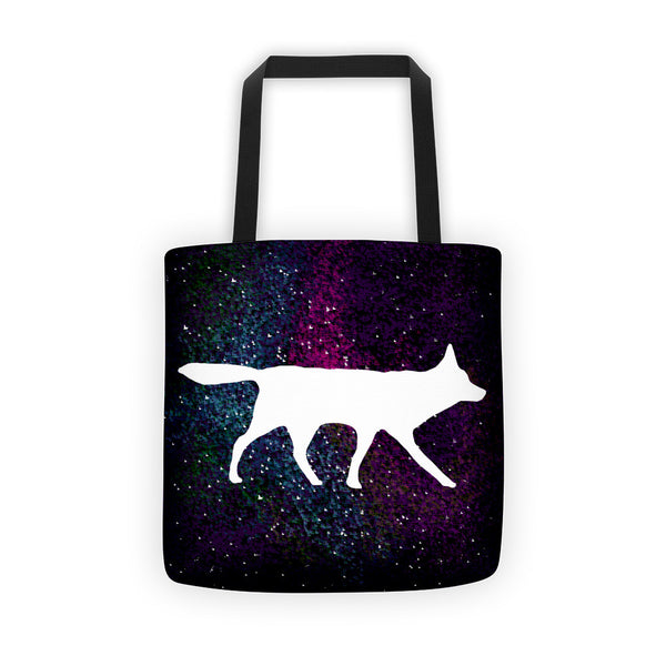 RED WOLF SPACE PRINT Tote bag