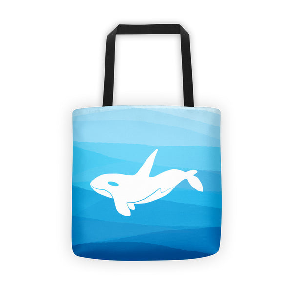 ORCA IN THE DEEP BLUE SEA Tote bag