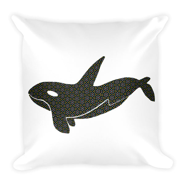 ORCA SPIRIT PRINT Square Pillow