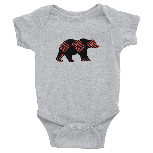 BEAR SQUARE SWIRLS Infant Bodysuit- MORE COLORS - Wear for Wild