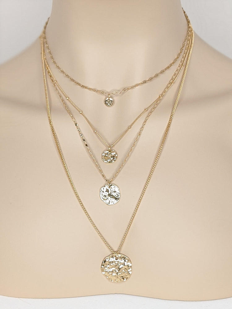 Coined Layered Necklace JW282