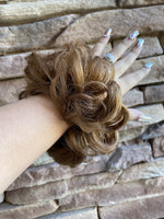 Messy Bun Hair Tie Light Brown PT128