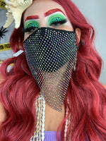 Bling Bandana Mask (Black)