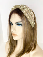 Light Olive Bling Headband HB42