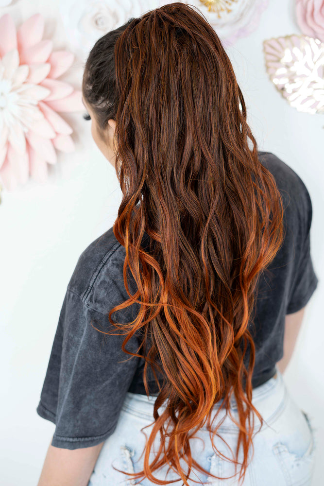 Beachy Copper Mix Ponytail PT120
