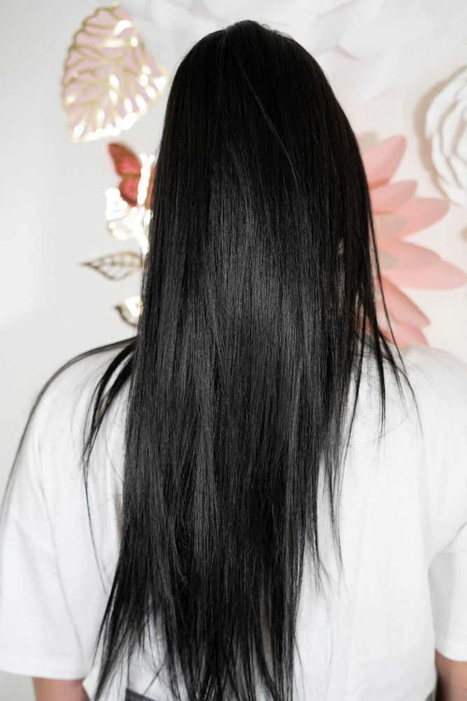 Long Straight Black Ponytail PT139