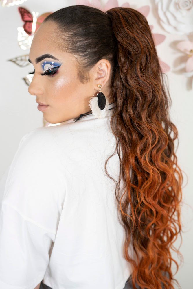 Ombre Copper Mix Ponytail PT140