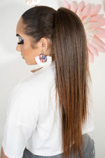 Straight Ombre Brown Ponytail Pt137