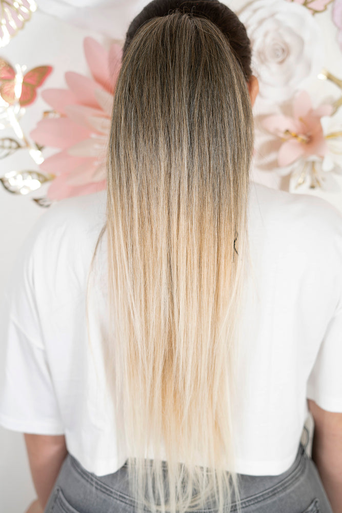 Straight Cute Blonde Ombre PT136