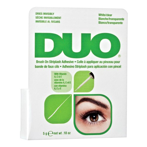 DUO Brush On Striplash Adhesive With Vitamins A C And E Clear, 0.18 Oz