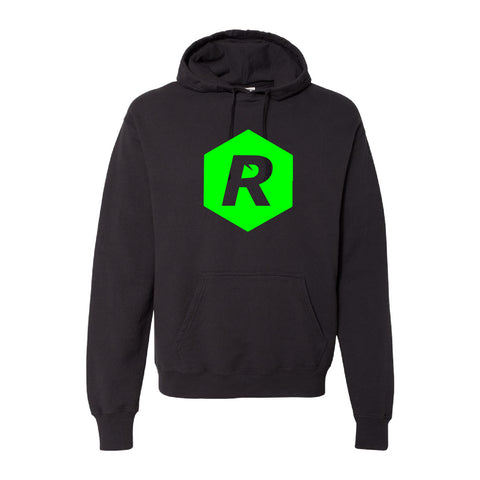 Rigged Hooded Pullover - Black