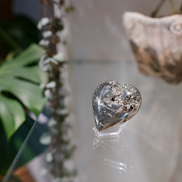 Pyrite Crystal Heart - Peru