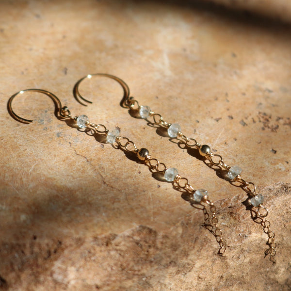 Aquamarine Gold Earrings | Nude Collection