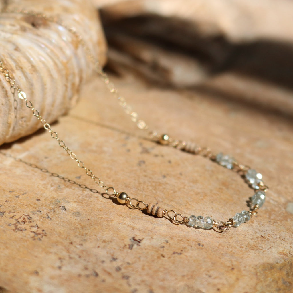 Aquamarine Gold Necklace | Nude Collection
