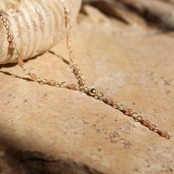 Sunstone Gold Necklace | Nude Collection