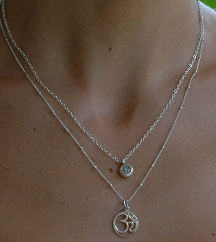 Double Necklace with Lotus and Om