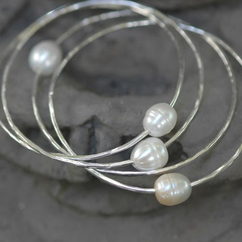 Bangle with Pearl