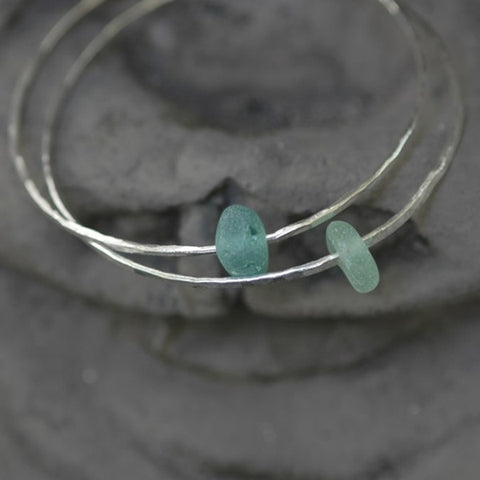 Bangle with Sea Glass