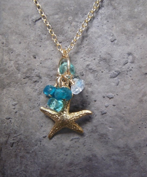 Starfish Necklace with Sea Colors