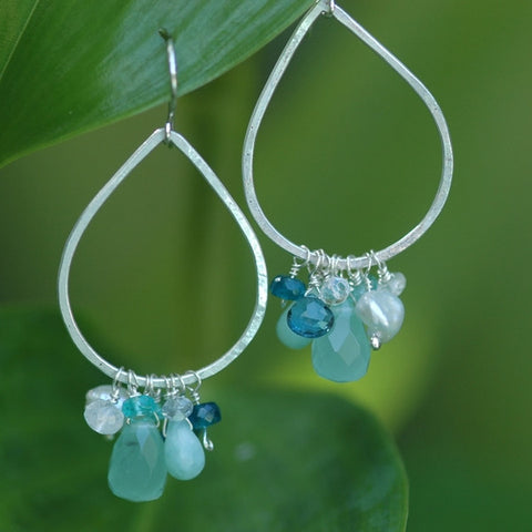 Teardrops with Seafoam and Whites