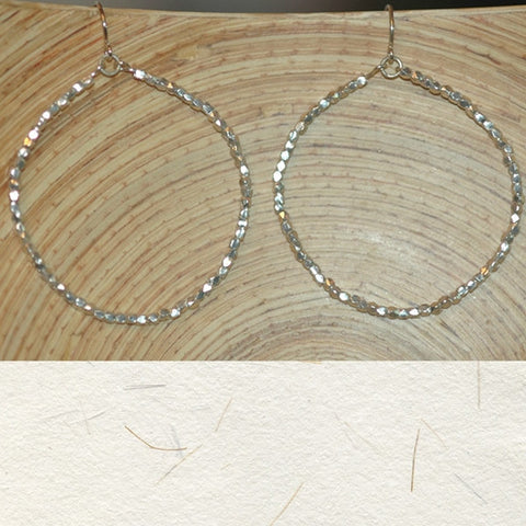 Faceted Small Bead Earrings