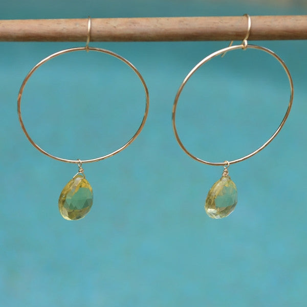 Big Hoops with Gemstone Earrings