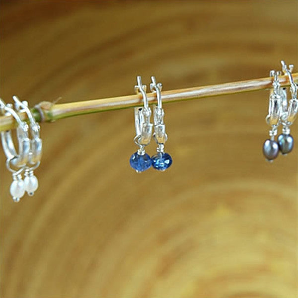 Hoops with Pearls or Gemstones