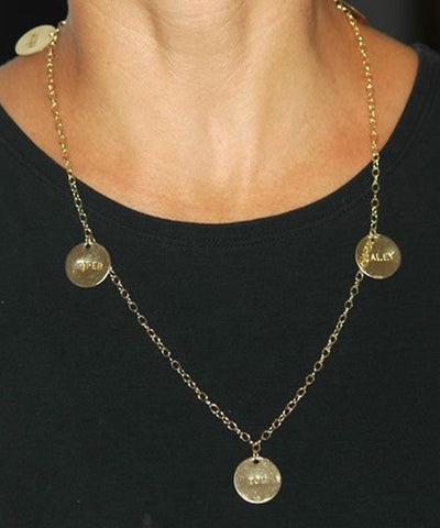 14K Gold Filled Oprah Disk Necklace