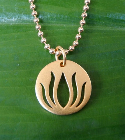 Lotus Necklace in Gold