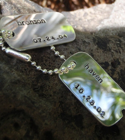 Men's Engraved Dog Tag Necklace