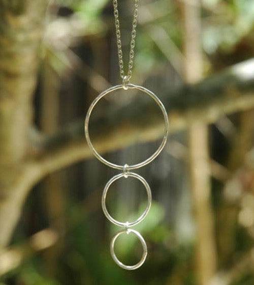 3 Circle Drop Necklace