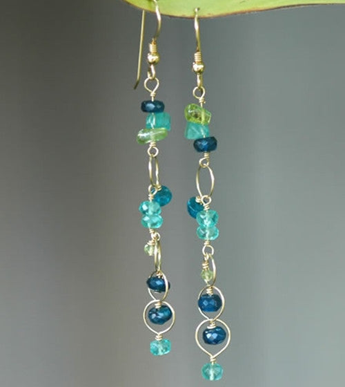 Apatite Dangle Earrings