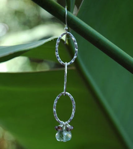 Green Amethyst and Andalusite Earrings
