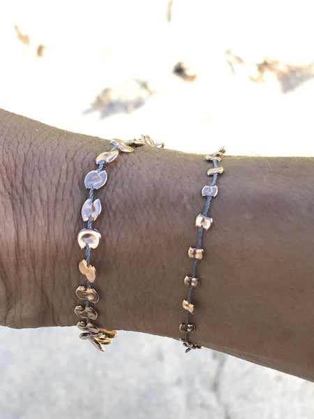 Pounded Rose Gold Bracelets