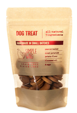 Peanut Butter and Sweet Potato Dog Treats