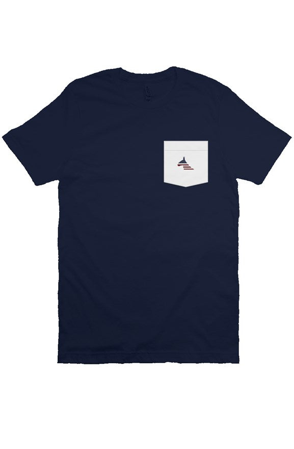 USA Dark Pocket Tee