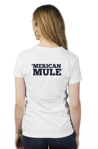 Women's Mule Head Tee - White