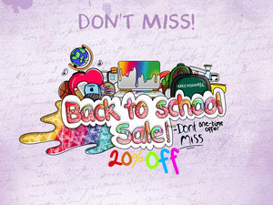 Don't Miss Our Back To School Promotion