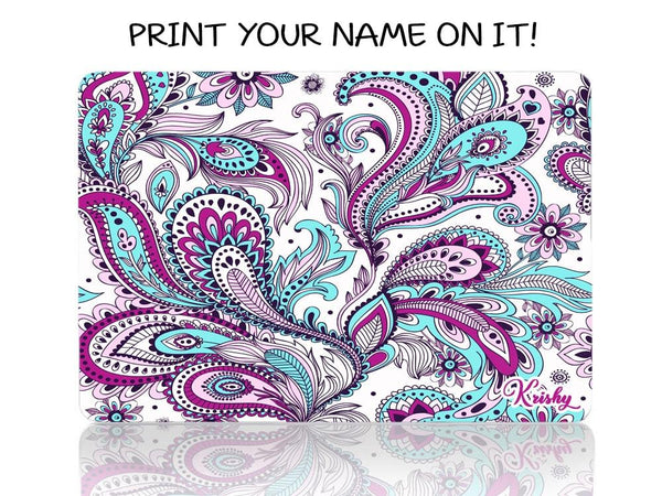 Green Purple Paisley - Make it COLOURFUL