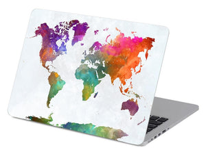 World Map in Watercolors - Make it COLOURFUL®