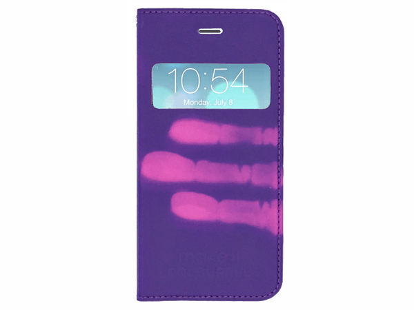 iPhone Cover, Heat-Sensitive Flip Cover Cases for iPhones 6-6s-7-8 - Make it COLOURFUL