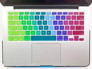 Silicone Keyboard Protectors Compatible with Old MacBook Air 13/Pro Retina 13 - Make it COLOURFUL®