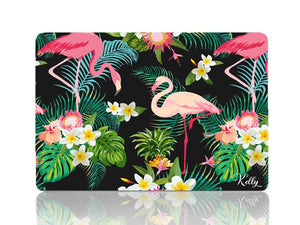 Tropical Pink Flamingos in Black - Make it COLOURFUL