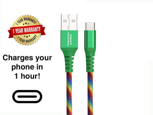 Colorful USB cable, Short USB cable (available in 3 types of connector) - Make it COLOURFUL