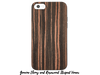 Faux-Leather and Wood Cases for iPhones 6-6s-7-8 Faux-Leather and Wood Cases Make it COLOURFUL Genuine Ebony and Rosewood Striped Veneer