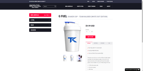 get yourself a team kaliber gfuel shaker cup today
