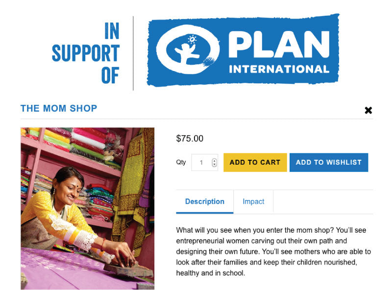 Plan Canada Gifts of Hope Image