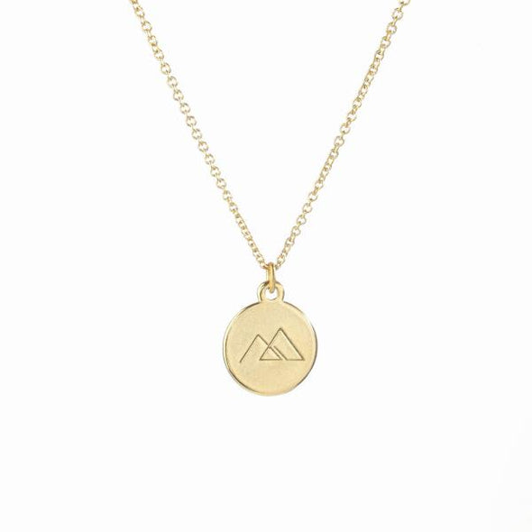 Gold inspirational pendant necklace made in Canada