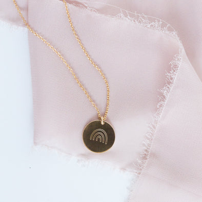 Medium Coin Necklace - Custom Engraving